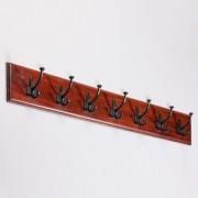 indickynabytok.sk - Vešiak s 7 háčikmi Jali 100x15x2,5 indický masív palisander, Svetlomedová