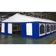 Premium Partytent PVC 6x12x2 mtr in Wit-Blauw