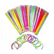 Varitas De Neon Con 100 Piezas Son Increibles Con Colores
