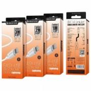 Cablu de date rezistent Borofone BX14 Fast LIghtning 3M Lungime compatibil cu iPhone iPad iPad Touch iPad Mini Alb