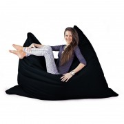 CrazyShop sedací vak STANDARD 144×180 cm, černá