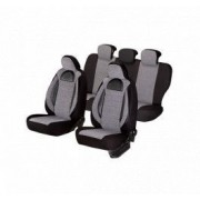 Set huse scaune auto Nissan X-Trail SMARTIC Editia Racing Insertii Piele Ecologica cu Textil 11 piese Gri/Negru