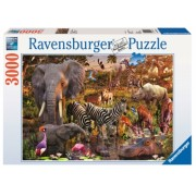 Puzzle Animale Din Africa, 3000 Piese Ravensburger