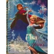 Disney Frozen Elsa & Anna Spiral Notebook Journal Diary 48 Lined Sheets