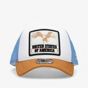 New Era Usa - Rojo-Azul - Gorra Trucker