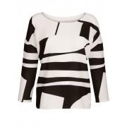 Alba Moda Shirt, Damen, weiß, mit grafischem Print im Vorderteil