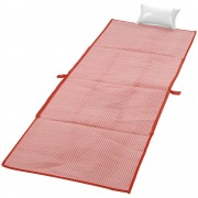 Rogojina pliabila pentru plaja 170x60 cm, Everestus, BI05, pp plastic, rosu, saculet inclus