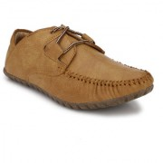 El Paso Men's Tan Man Made Leather Casual Shoes