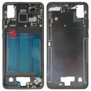 Huawei Front behuizing LCD-frame bezel voor Huawei P20 (zwart)