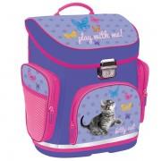 Ghiozdan Kitty, pentru scoala, cu carcasa tare