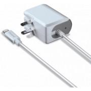 Incarcator Retea iSound ISOUND-5920, Lightning, 2.4A, cu adaptor EU (Alb)