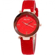 Modor Queen of Crystal Red Sparkly Dial Watch for Women Girls