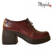Pantofi dama din piele naturala 650/Bordo