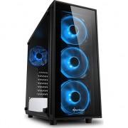 Carcasa desktop sharkoon TG4 blue