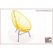 1a Direktimport Original Acapulco Chair - gelb schwarz, Designer Sessel für Outdoor und Indoor