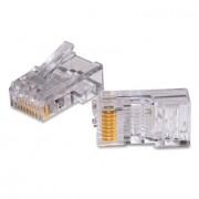 Kit de 100 conectores RJ45 CAT-5 AMP, 5-0554720-3 P