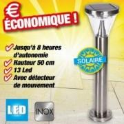 OUTIROR Lampe solaire - hauteur 50cm à fixer au sol