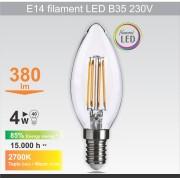 Mitea Lighting Sijalica LED 230V 470lm 2700K (E14 filament B35 4W dimabilna)