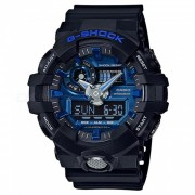 Reloj de moda casio g-shock GA-710-1A2-negro + azul