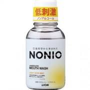 LION «Nonio» Профилактический зубной ополаскиватель (без спирта, лёгкий аромат трав и мяты), 80 мл.