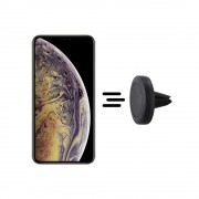 Shop4 - iPhone Xs Max Autohouder Magnetische Ventilatierooster Houder Zwart