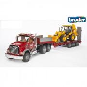 Brauder mack granite camion con scavatore jbx 4cx 2813
