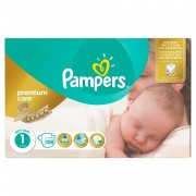 Scutece Pampers Premium Care New Baby nr.1, 2-5 kg, 108 bucati