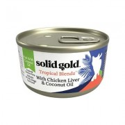 Solid Gold Tropical Blendz with Chicken Liver & Coconut Oil Pate Grain-Free Canned Cat Food, 6-oz, case of 8