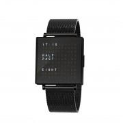 Biegert & Funk Qlocktwo W39 Horloge Black Steel EN - Milanese band