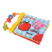Homyl Non-Toxic Soft Fabric Cloth Book Baby Early Education Toys Activity Bed Shower Gift for Toddlers Babies Kids - Fruit, as described