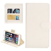 4.3-4.8 Inch Universal Crazy Horse Texture 360 Degree Rotating Carry Case with Holder & Card Slots for iPhone 6 & 6S / Samsung Galaxy S4 / S3 / i9500 / i9300(White)