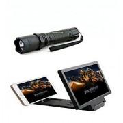 Self Defense Stun Gun With Torch With 3d Folding HD Screen Magnifier