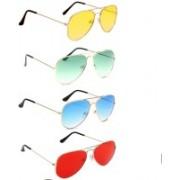 SRPM Aviator Sunglasses(Yellow, Green, Blue, Red)