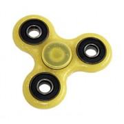 Fidget Spinner fosforescent, cu sclipici, galben