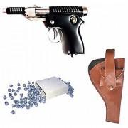 DYNAMIC MART 007 METAL AIR GUN 100 PALLETS WITH COVER (BLACK BROWN)
