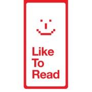 Magnetische boekenlegger: like to read
