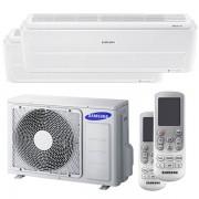 Samsung Condizionatore Samsung Windfree Pure Dual Split 7000+7000 Btu Inverter A++ Wifi Unità Esterna 4,0 Kw (AJ040NCJ2EG/EU-AR07NXCXAWKNEU-2)