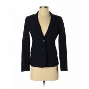 Banana Republic Wool Blazer Jacket: Blue Solid Jackets & Outerwear - Size 2 Petite