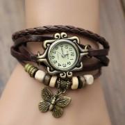 i DIVA'S LIFE Vintage Watches for Women Genuine Leather Watch Bracelet Wristwatch BrownSTAR