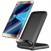 10W Qi Certified Fast Wireless Charging Desk Stand for Mobile Phone