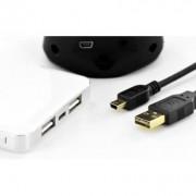 Accesoriu pentru imprimanta assmann Conexiunea USB 2.0 HighSpeed USB Duplex A / B miniUSB M / M 1.8m (AK-300123-018-S)