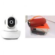 Zemini Wifi CCTV Camera and Mini Xtreme K5 Plus Bluetooth Speaker for LG OPTIMUS L5(Wifi CCTV Camera with night vision |Mini Xtreme K5 + Bluetooth Speaker)