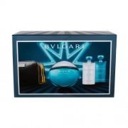 Bvlgari Aqva Pour Homme set cadou EDT 100 ml + Gel de dus 75 ml + Balsam dupa barbierit 75 ml + Borseta cosmetice pentru bărbați