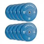 Nipton Conjunto Completo Placas de Peso Borracha 5 Pares de 20 kg Cada Azul