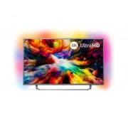 "Philips Tv philips 65"" led 4k uhd/ 65pus7303 (2018)/ hdr plus / ambilight x3/ quad core/ ultraplano/ smart tv/ 4 hdmi/ 2 usb/ dvb-t/t2/t"