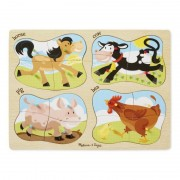 Puzzle lemn 4 in 1 Ferma Melissa and Doug