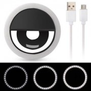 Selfie Ring Light RK-12 with LED Selfie Luminous Ring Rechargeable with USB Cable Universal for All Phones - Lampa circulara pt. Smartphone