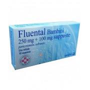 Sanofi Spa Fluental Bambini 250 Mg + 100 Mg Supposte 10 Supposte
