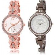 The Shopoholic Silver Combo Fashionable Fancy Collection Silver Dial Analog Watch For Girls Watchs For Girls Fashion