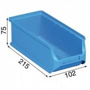 Allit Kunststoffboxen plus 2l, 102 x 215 x 75 mm, blau, 20 stk.